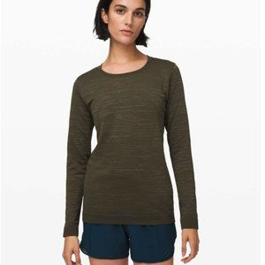 Lululemon Swiftly Relaxed Long Sleeve Dark Olive / Fatigue Green